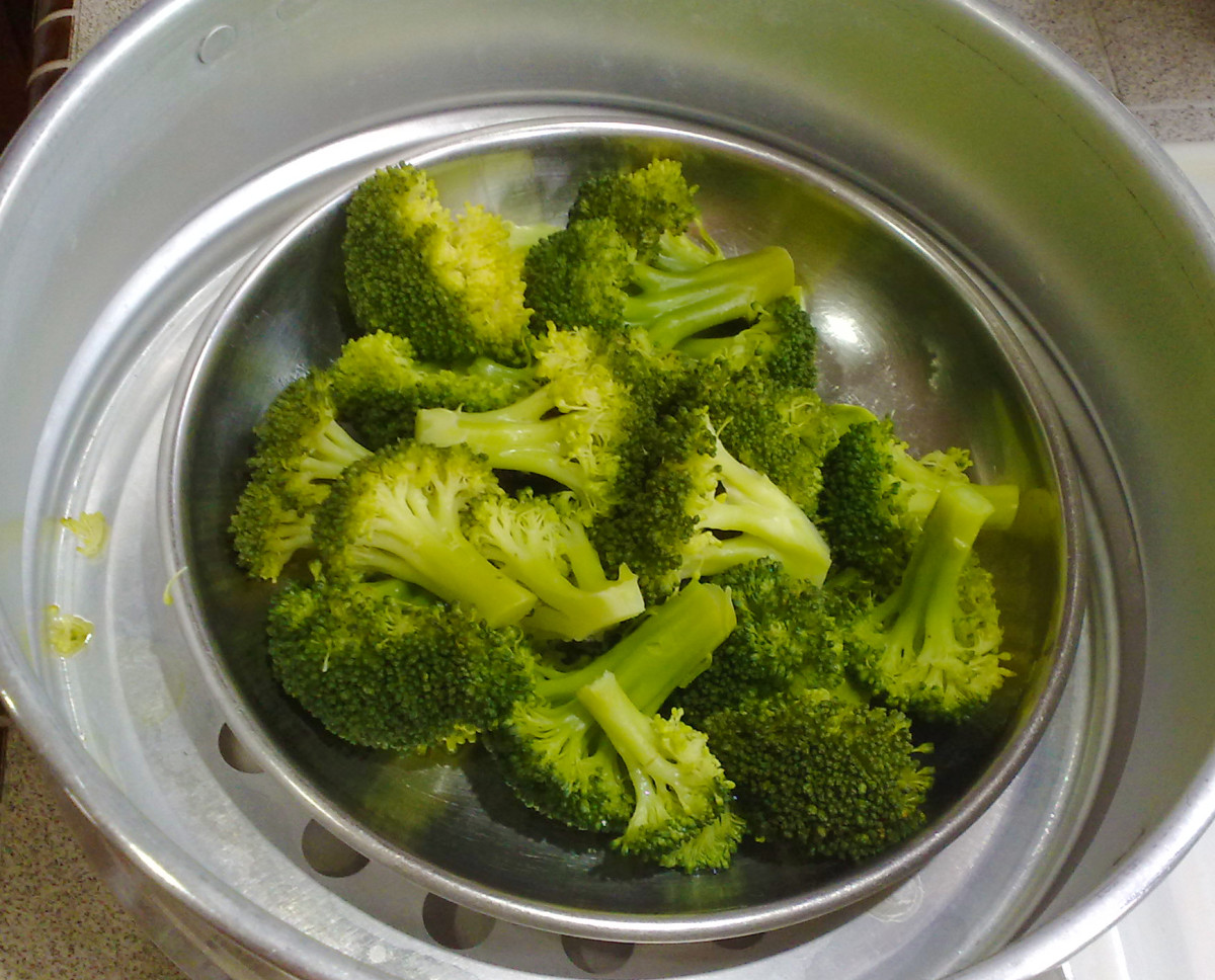 The fresher the broccoli, the faster it cooks. Smaller pieces cook faster too.