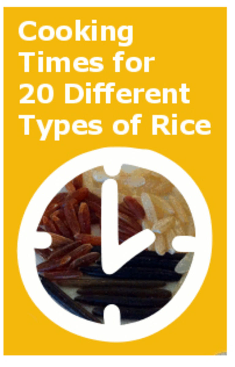 Different types of rice require different cooking times