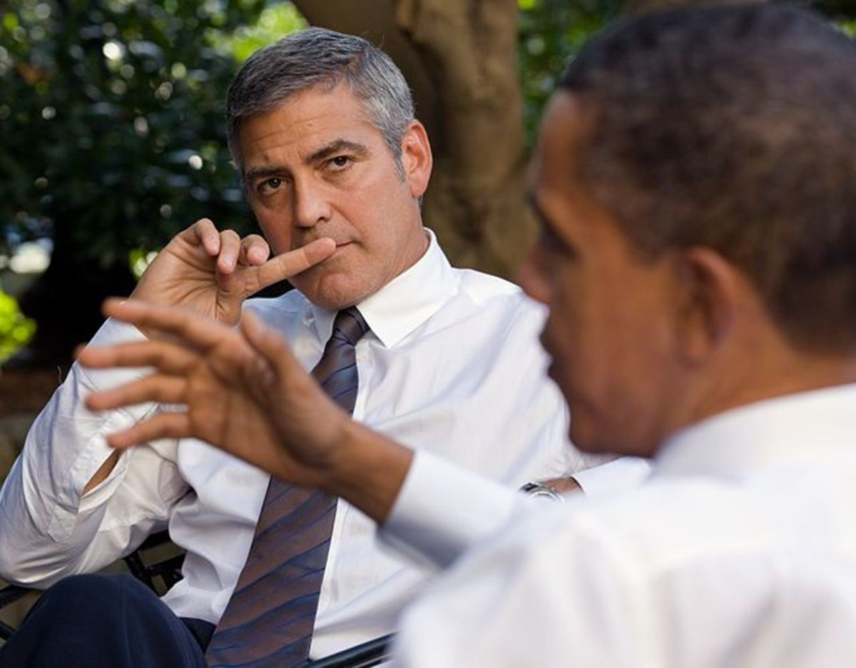Clooney in discussion with The President of USA
