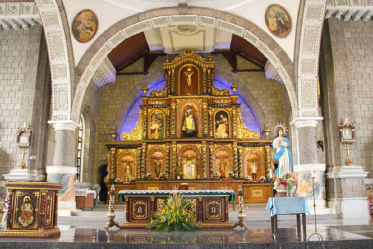 Interior of the St. Peter of Verona Church in Hermosa, Bataan