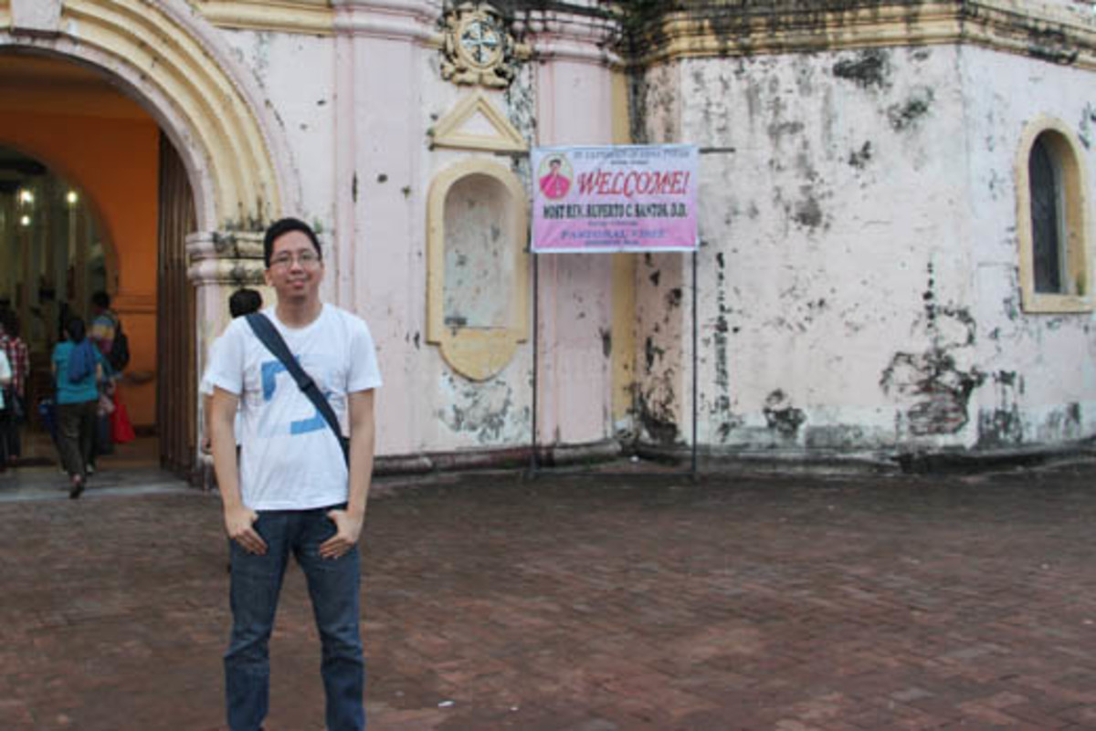 Renz Kristofer Cheng (Author) in the 7th stop called St. Catherine of Sienna