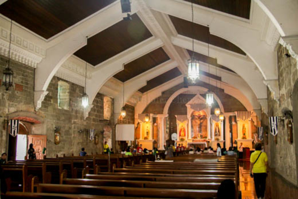 Interior of St. Dominic Parish in Abucay, Bataan