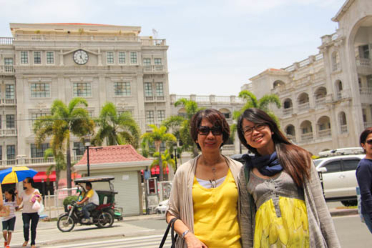 A photo of my mom and sister whom I had one-day pilgrimage with in Bataan.