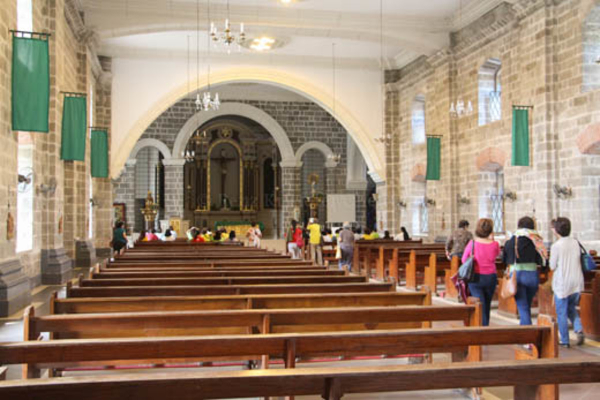 Interior of Our Lady of Pillar Church in Pilar, Bataan