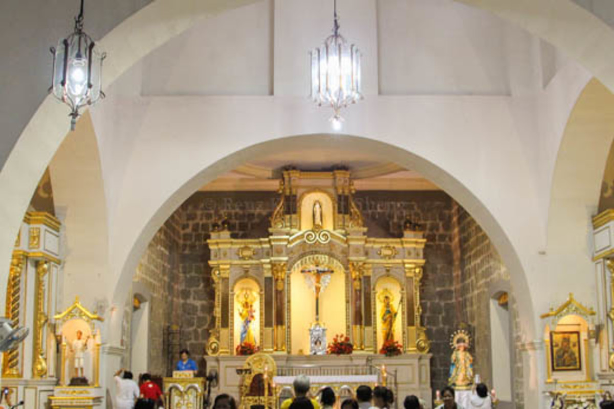 The interior of St. Catherine of Sienna in Samal, Bataan
