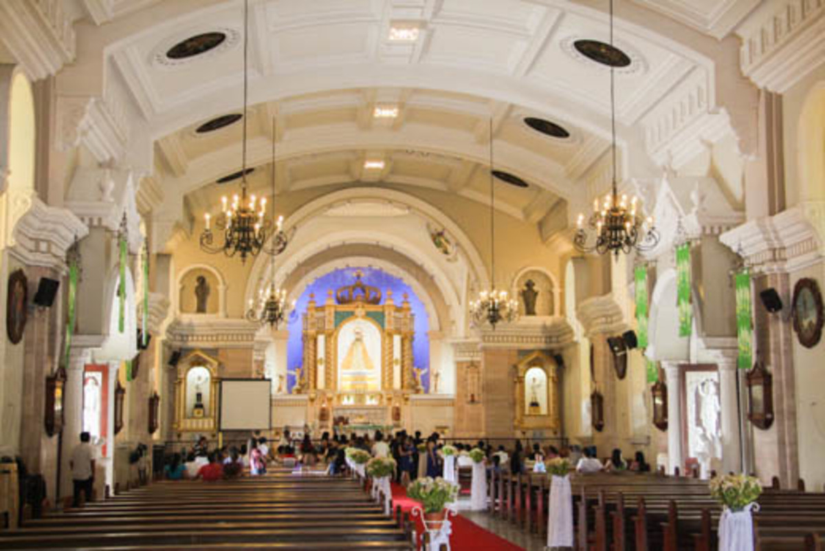 The interior of Our Lady of the Holy Rosary in Orani, Bataan