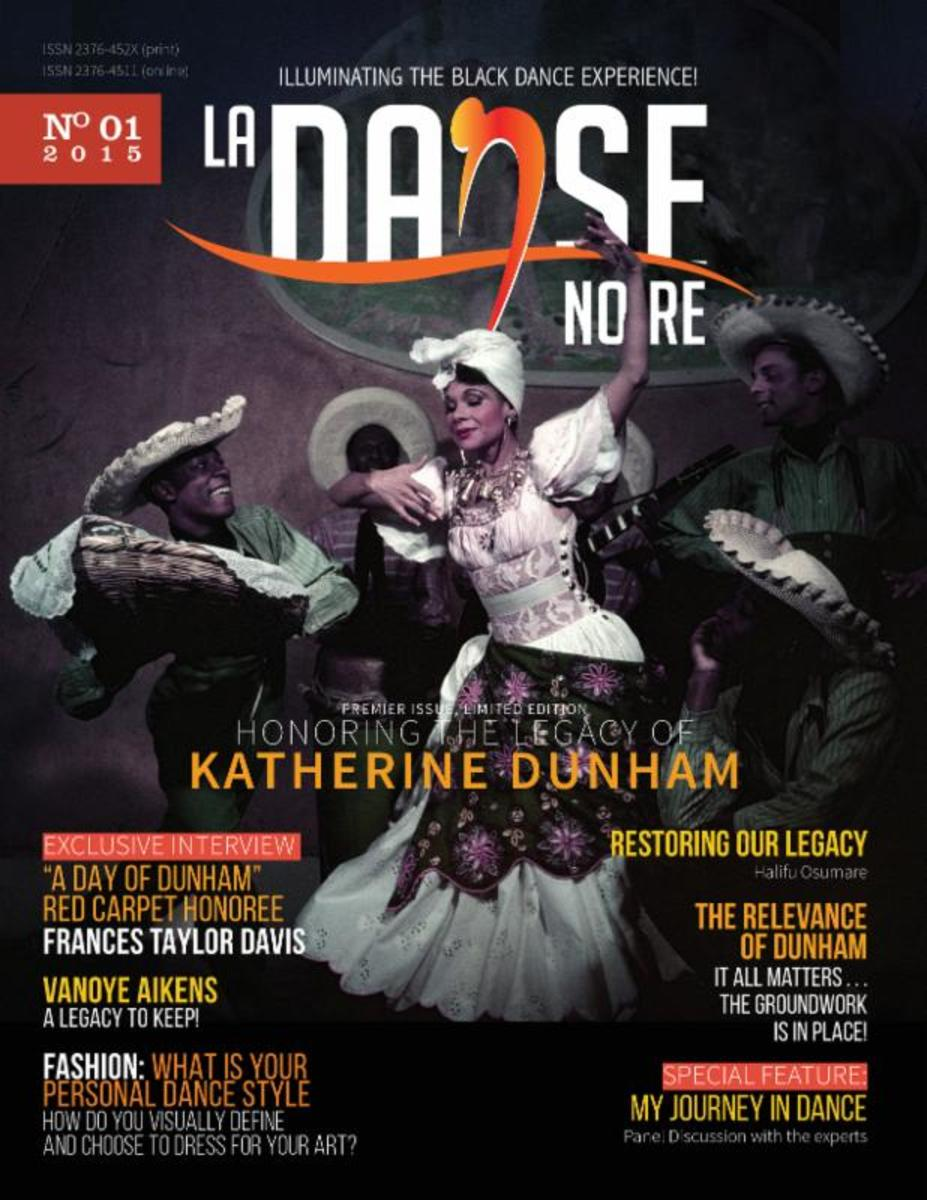 Katherine Dunham on the premiere magazine, La Danse Noire.