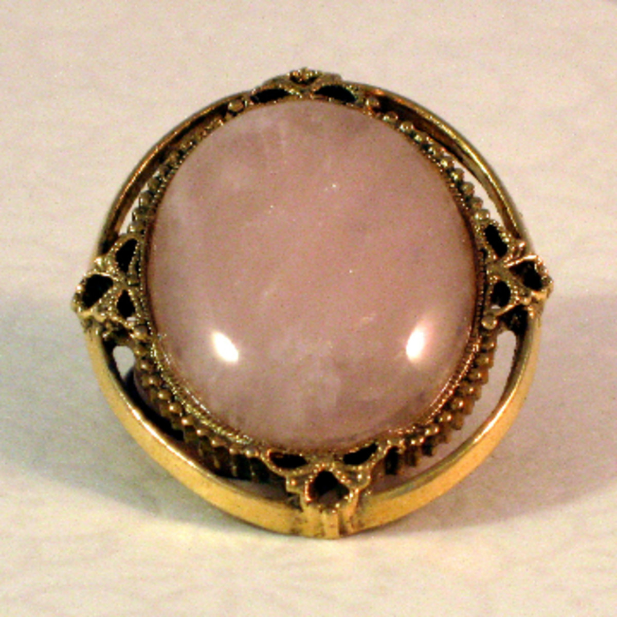 Meh.  A perfectly nice but hardly spectacular rose quartz pendant.