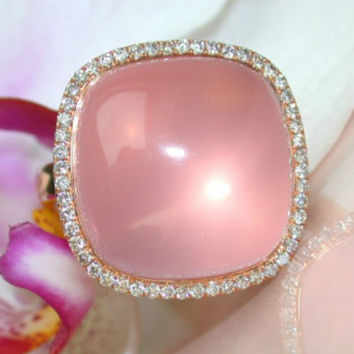 "A star rose quartz ring by Schmucktraeume (German for ""Jewelry Dreams""). Photo courtesy of schmucktraeume.com."