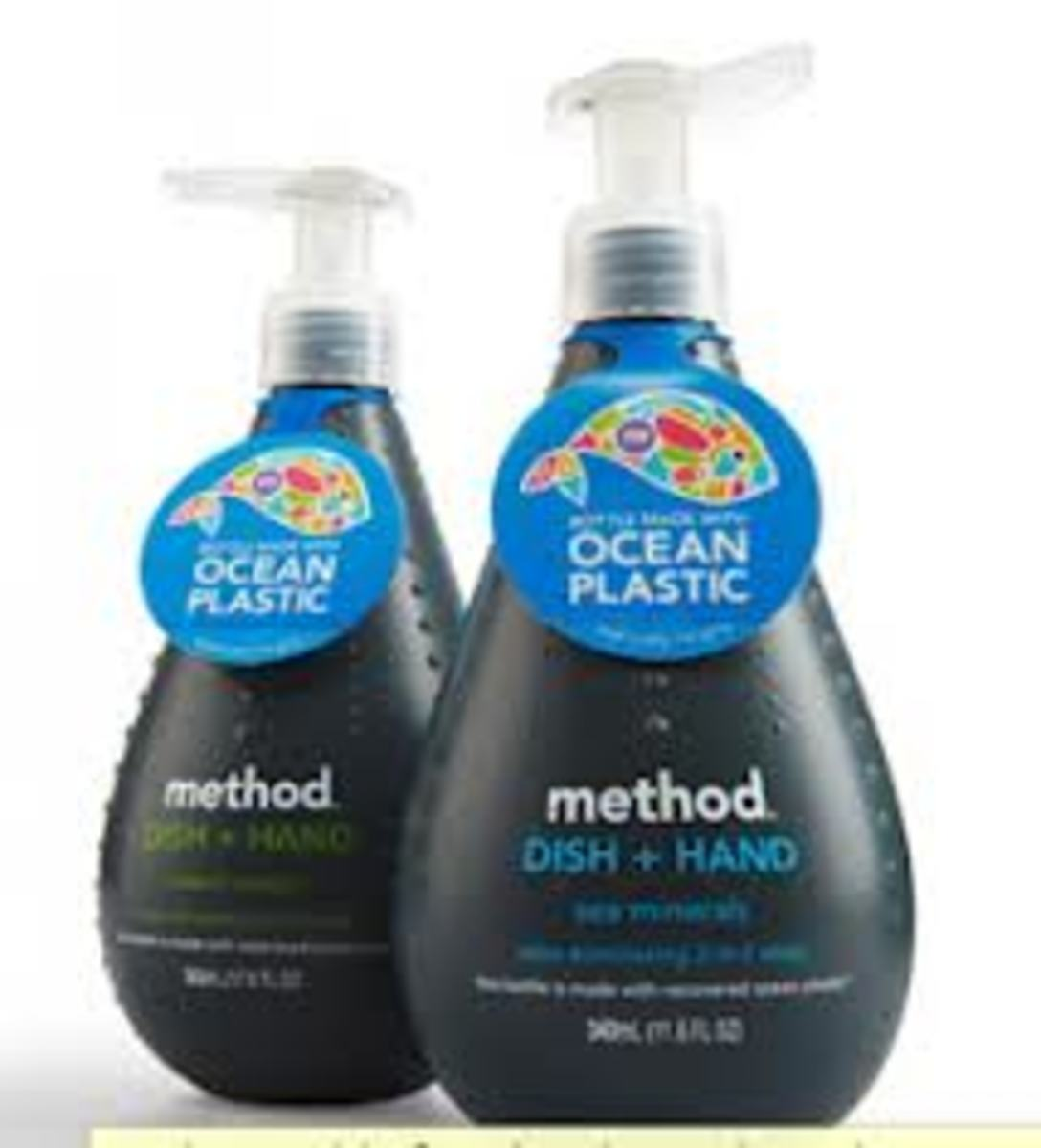 Method Soaps come in all shapes, sizes, and even recyclable material, see here the bottles are made of ocean plastic.  Always trying to better the world, one cleaner at a time.