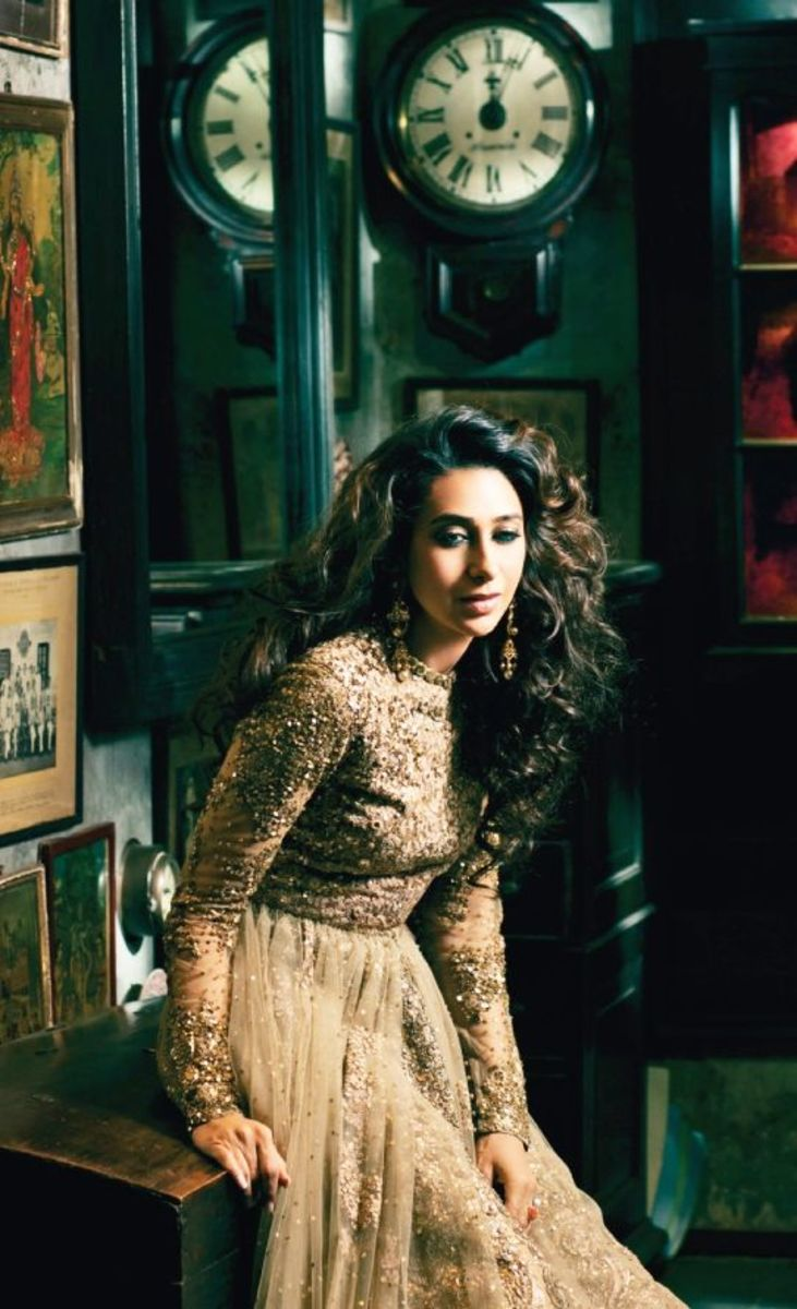 Karishma Kapoor is gorgeous beije Sabyasachi Bridal wear