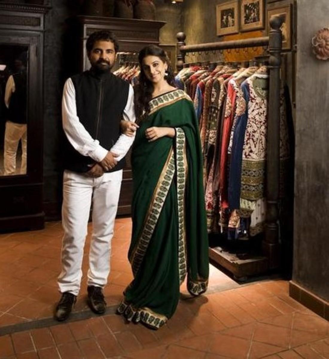 The Designer, Sabyasachi and his endorsee, Vidya Balan