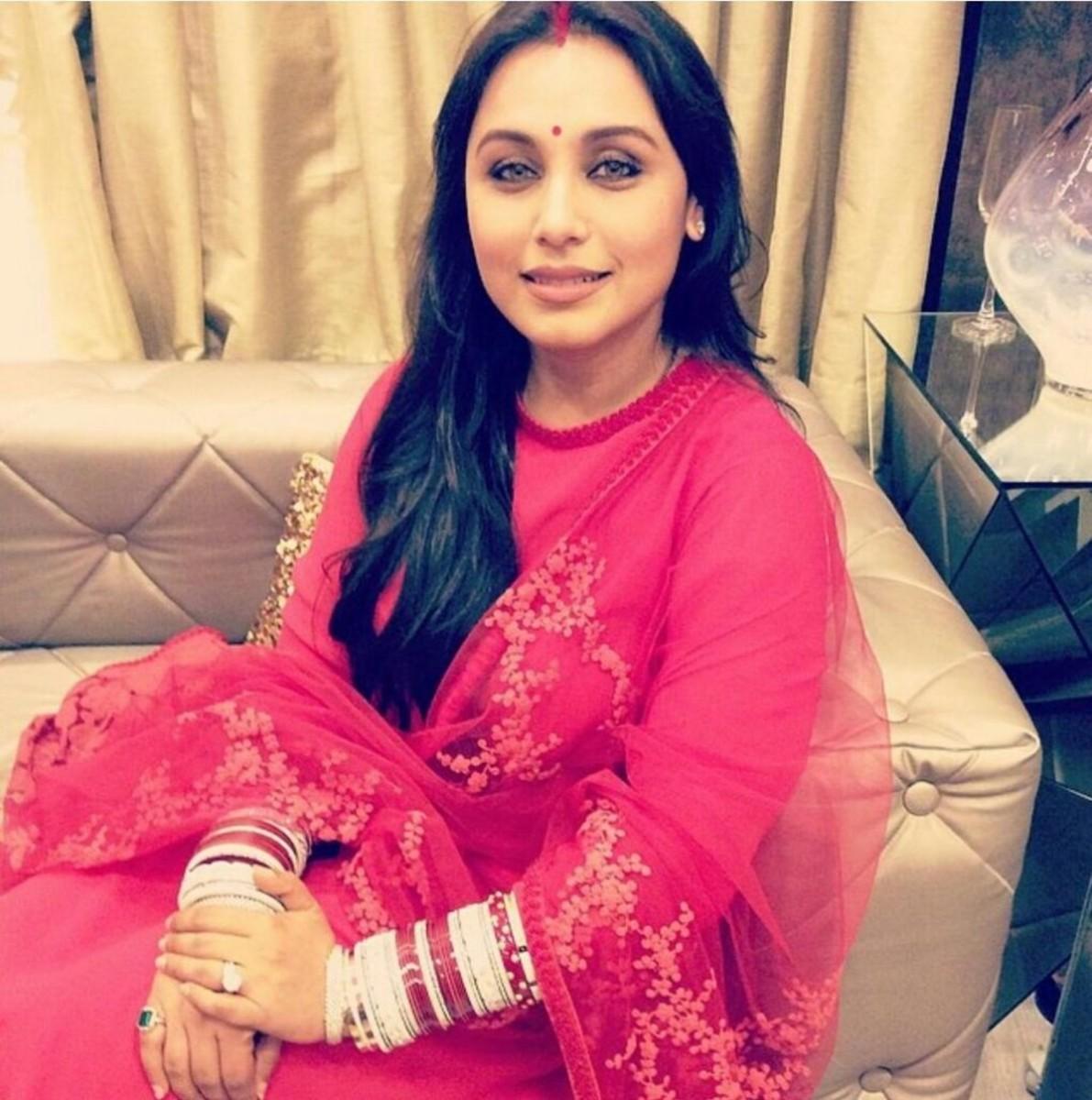 Rani Mukherjee wearing Hot Pink Sabyasachi Designer Salwar Kameez
