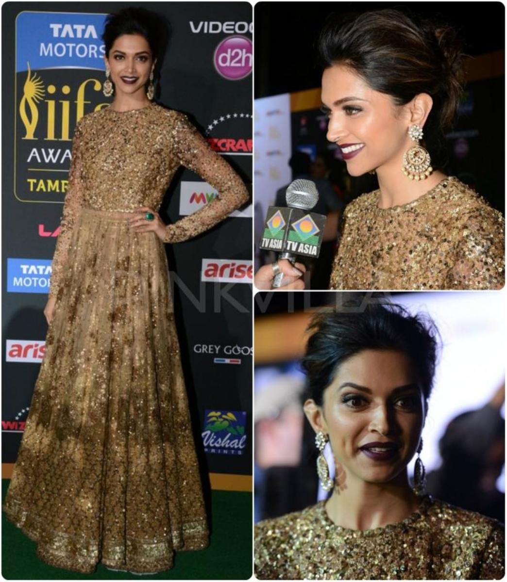Deepika looking stunning in sabyasachi