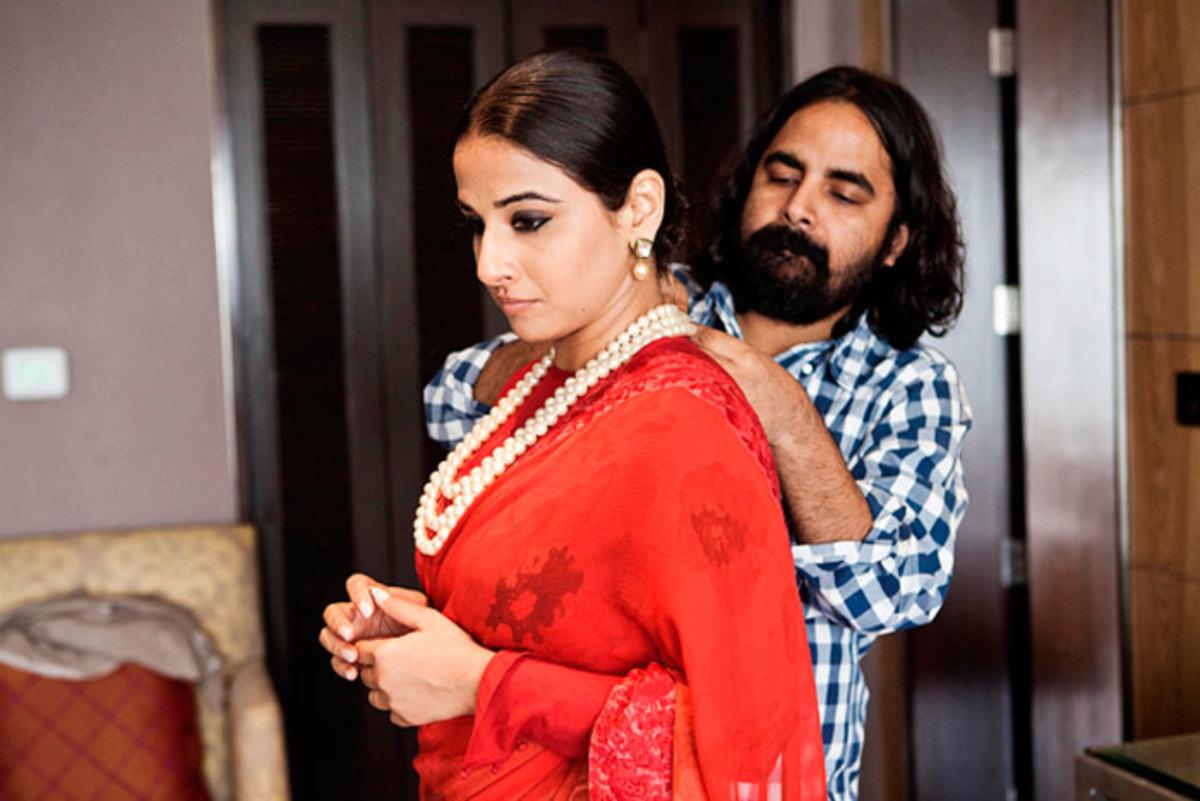 Designer Sabyasachi with Vidya Balan