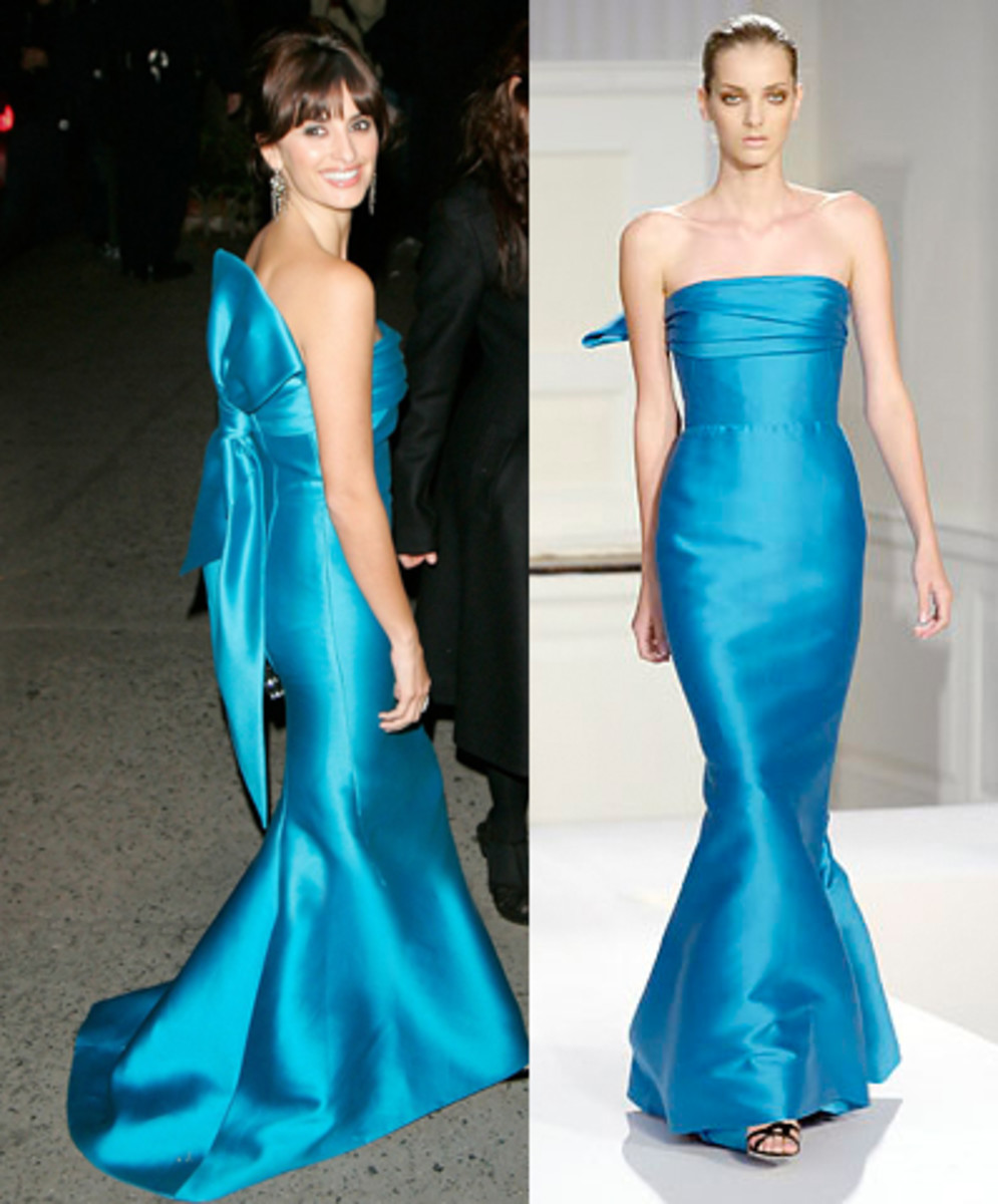 Penelope Cruz (left) and runway model