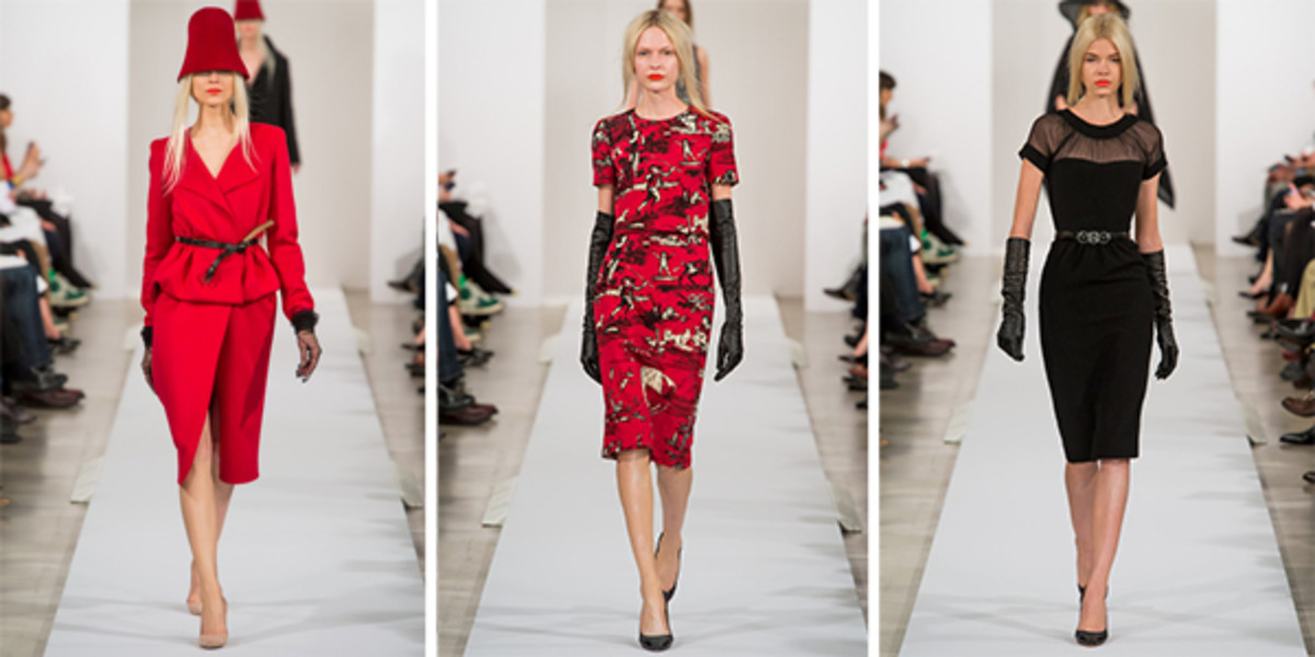 Oscar de la Renta dresses.  I like his knee length dresses rather than mini-skirts as they are more flattering to a woman.