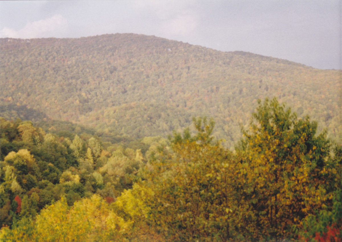 The Blue Ridge Mountains of Ashville, North Carolina