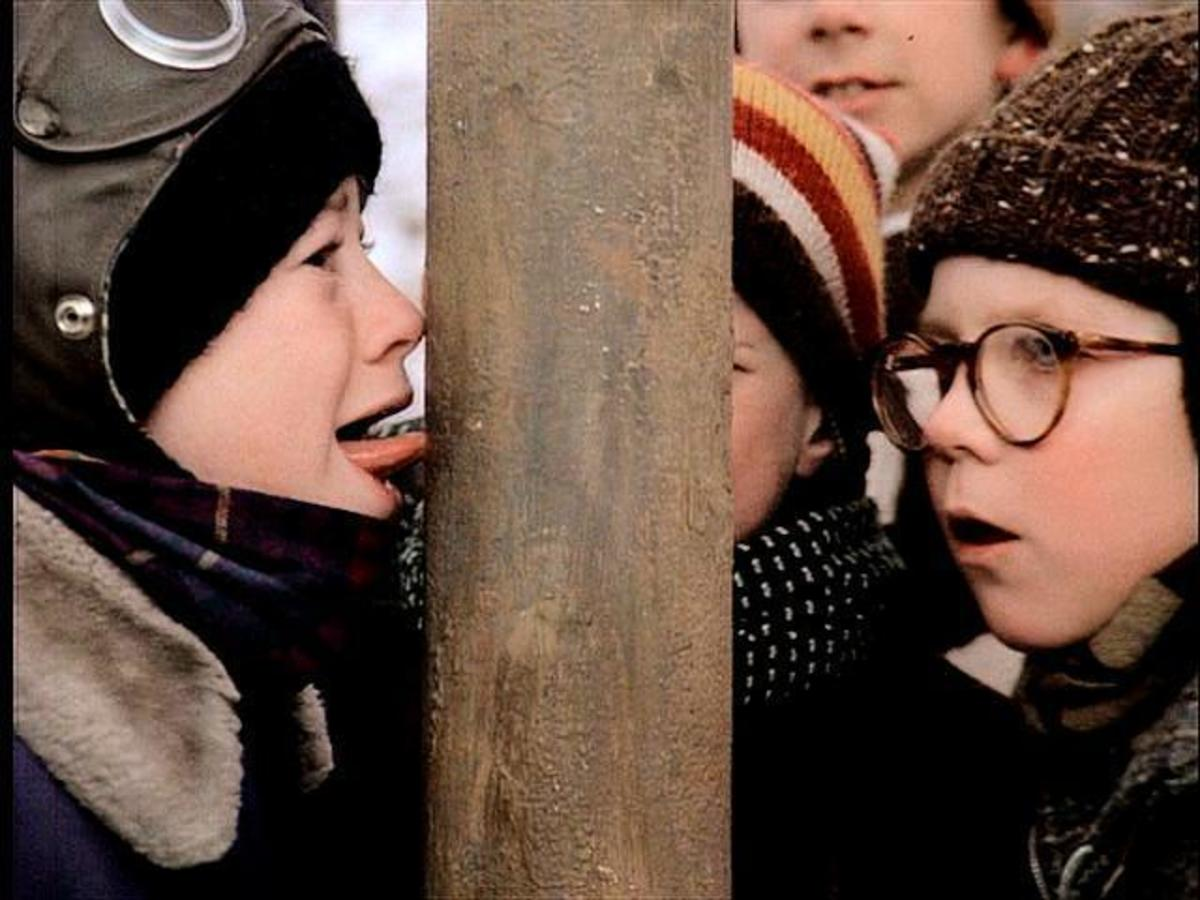 Movie still from the Christmas classic, A Christmas Story.