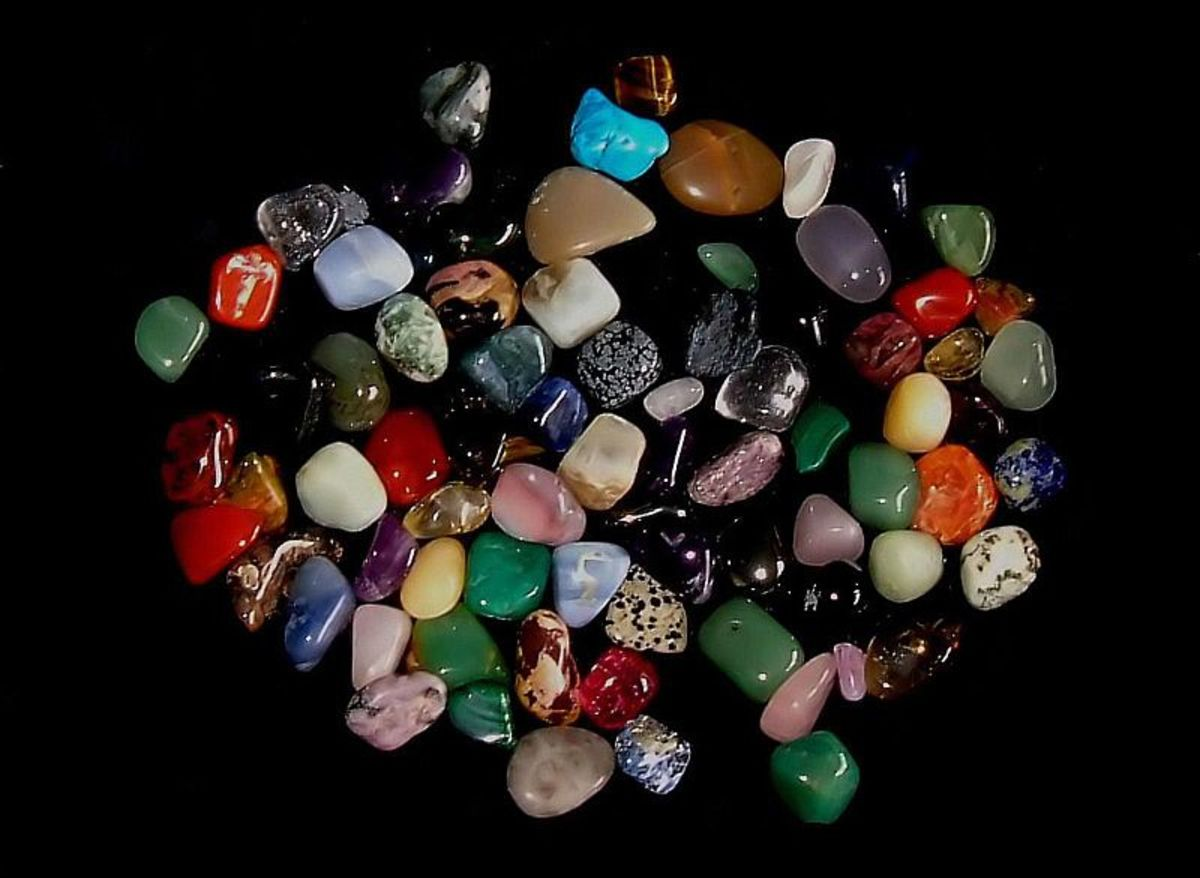 Many gemstones have magical correspondences and can be used in herbal sachets and other magical work.