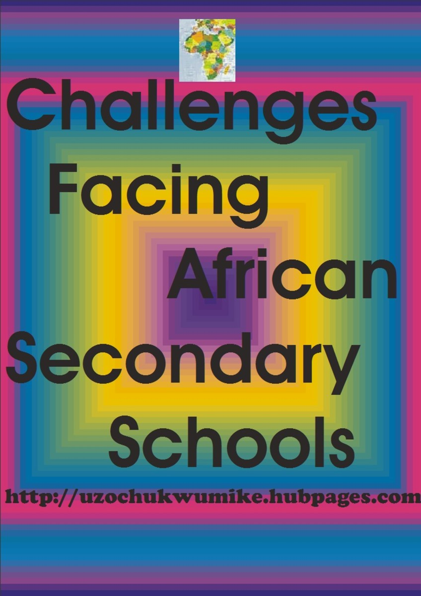 The problems that African secondary schools are facing-illustration. The secondary schools in Africa are not in good state.