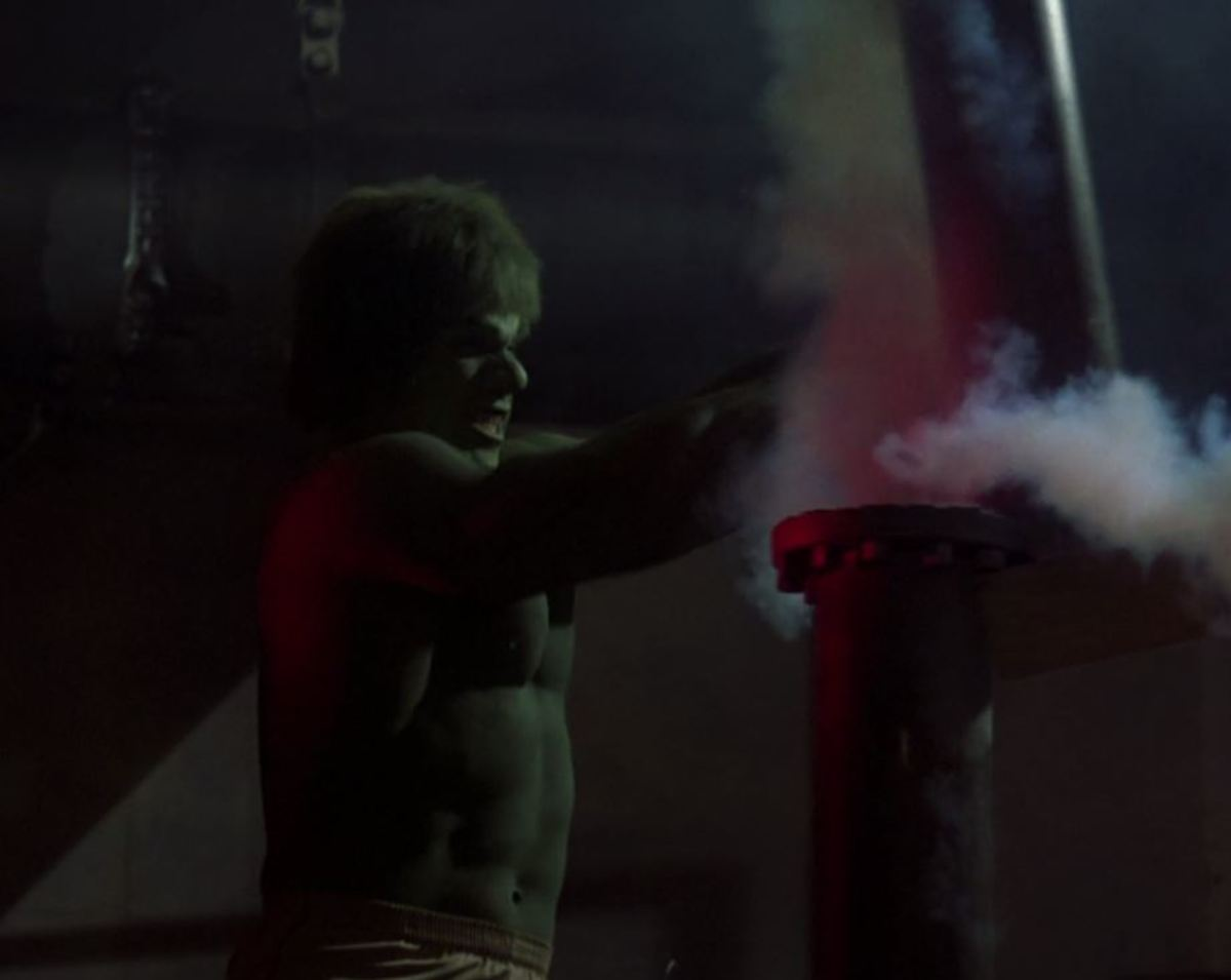 The Incredible Hulk doesn't like that pipe!
