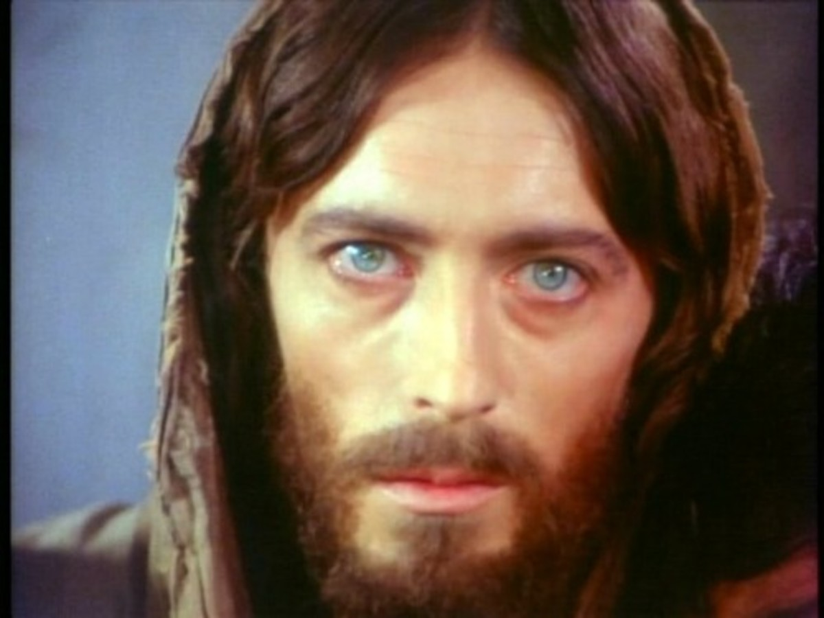This is the picture of Jesus of Nazareth which was portrayed by actor Robert Powell.