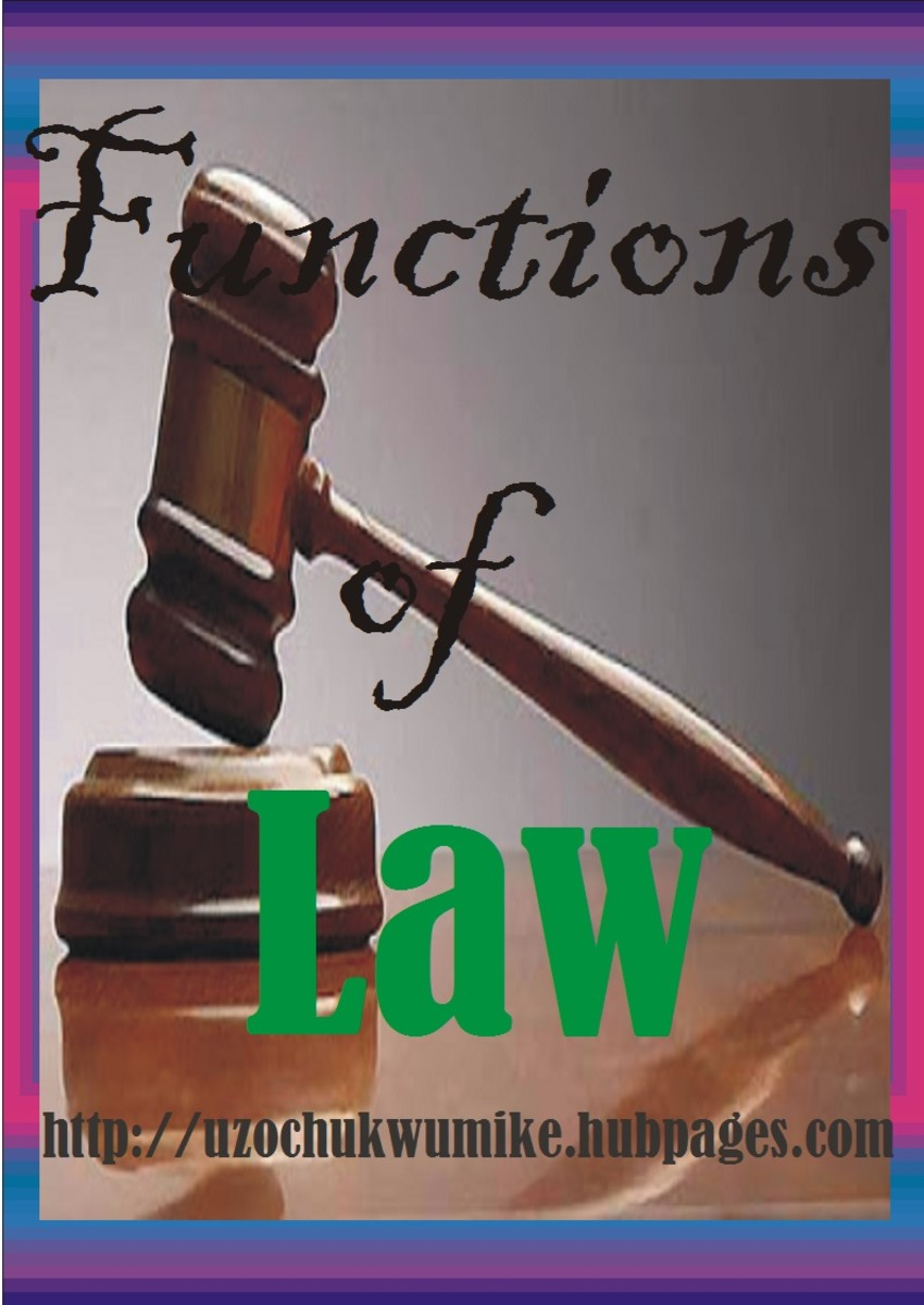 The functions of Law. The picture explains what the topic is all about. Law is of great importance to the society.