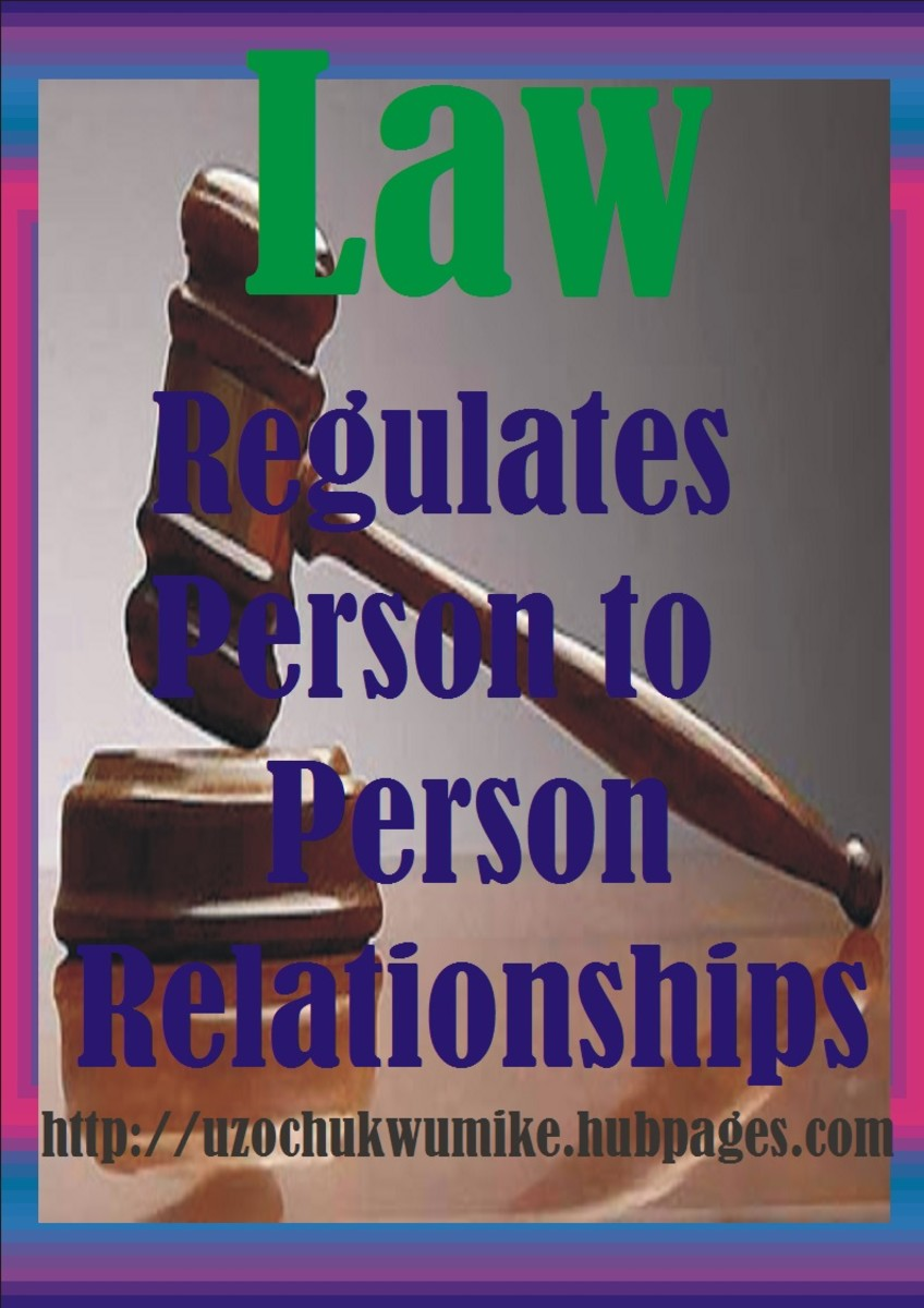 Functions of Law in terms of relationship