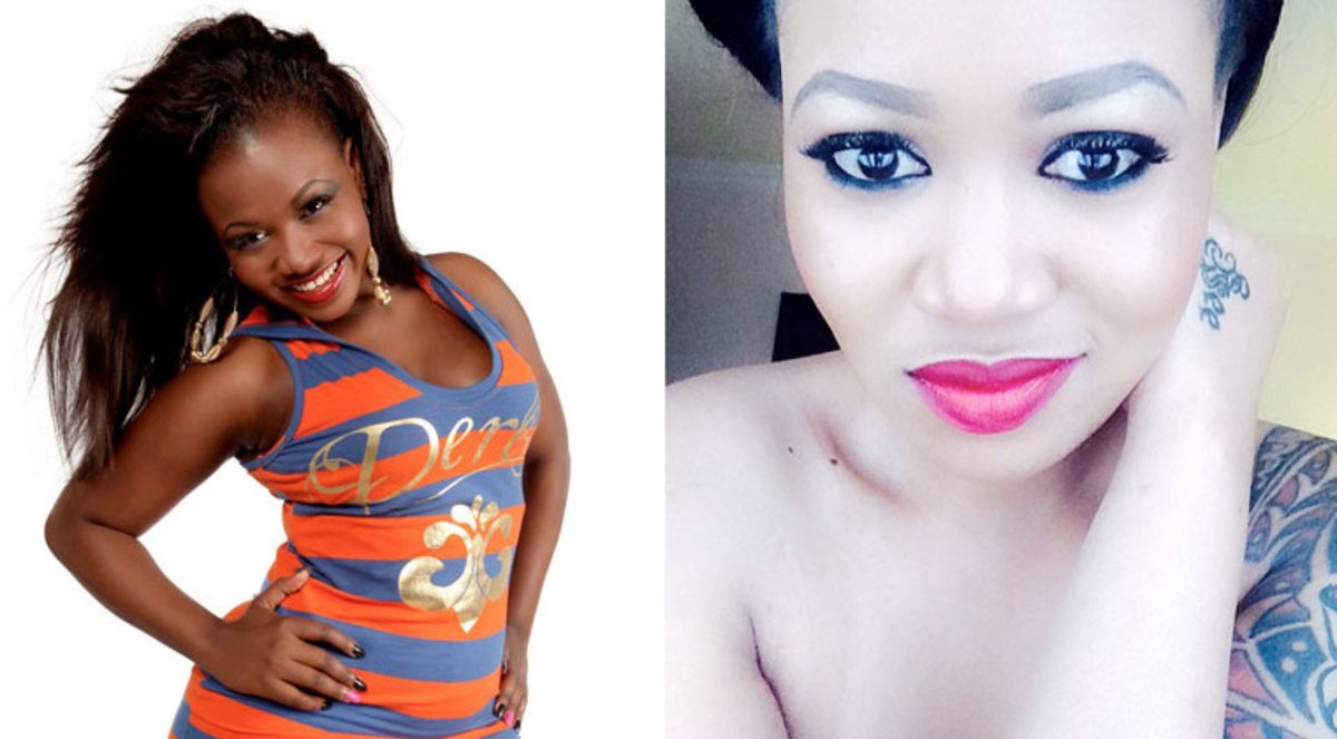 Before and After Picture of Kenya socialite Vera Sidika, the most recent celebrity to add fuel to the skin-bleaching.