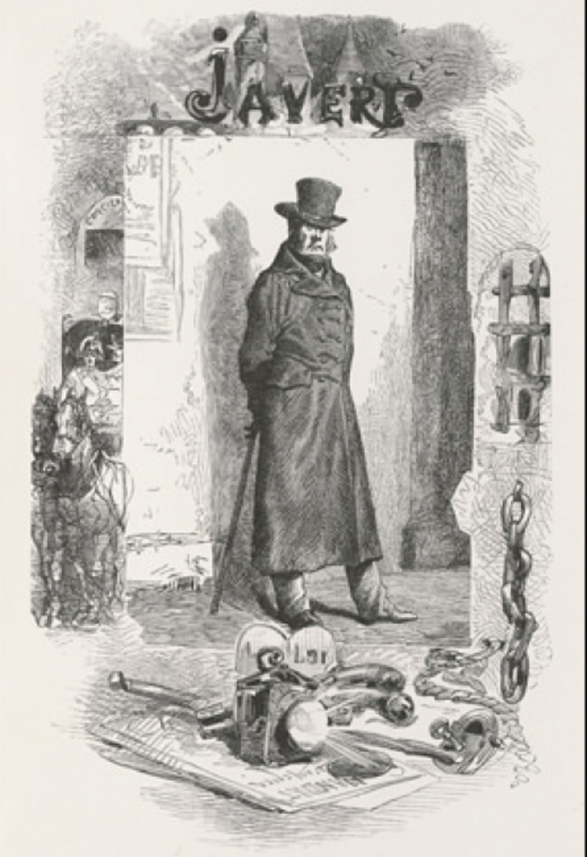Inspector Javert; illus. Gustave Brion