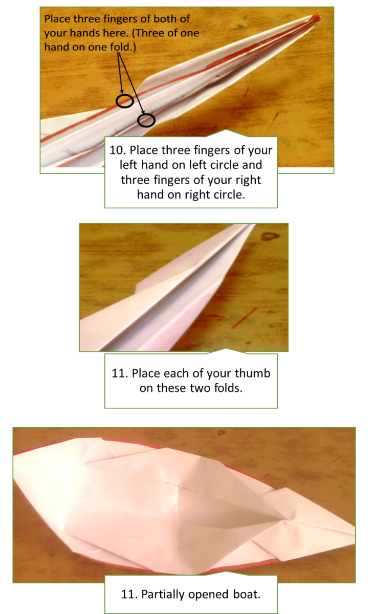 How to make a paper boat.