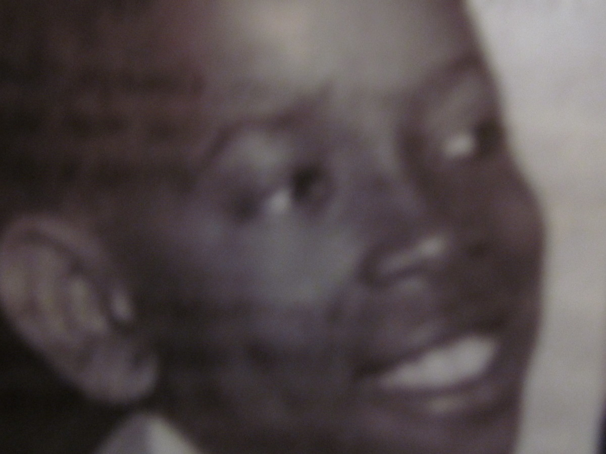 "A photograph of ""Blue"" as a young lad."