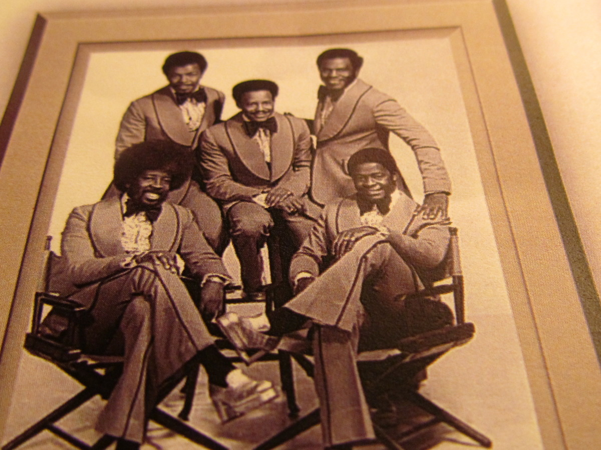 "The Grammy Award winning group ""The Manhattans, feature Sonny Bivens, on the upper left hand corner of this photograph and Blue Lovett is on the lower left hand corner. Kenny Kelley, George ""Smitty"",  deceased and Gerald Alston, present lead singer."