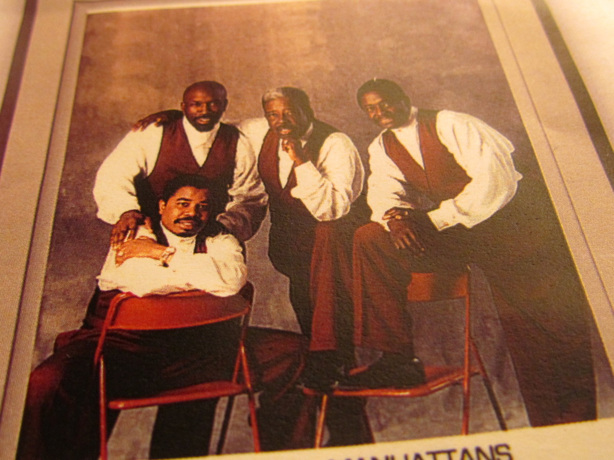 "Current member of ""The Manhattans"" excluding Blue Lovett, who is deceased."