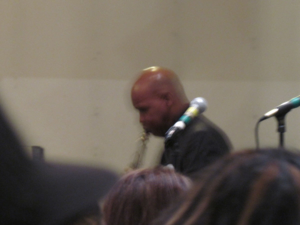 "Saxophonist Jerry Blake, was once a member of The Manhattans. He dedicated the song, ""It Is Well"" for the memorial service."