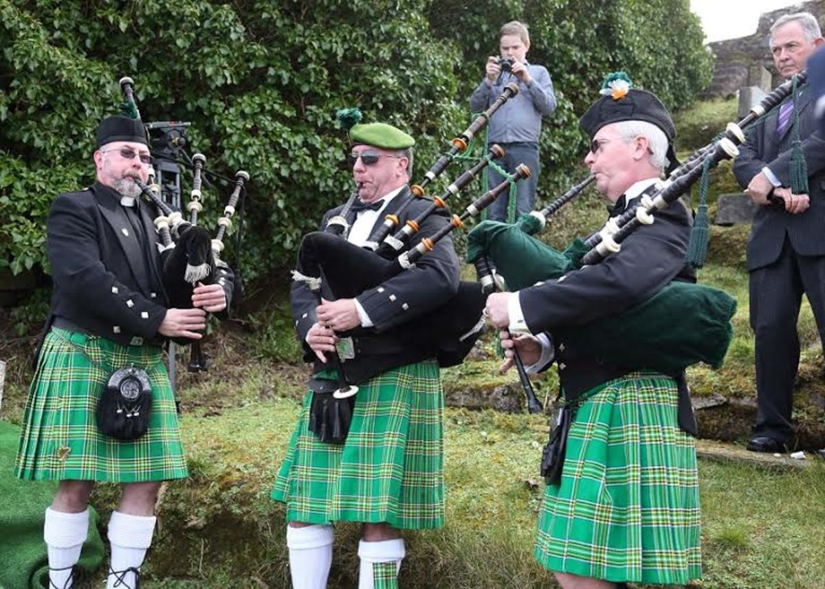 The Watson brothers and others at the burial of John Ruddy in Donegal Ireland
