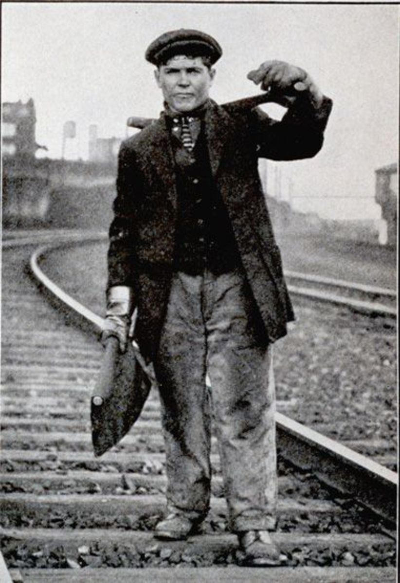 Irish Railroad worker in the US in the mid 19th Century.