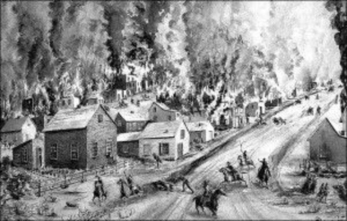 A Jayhawk raid on a Missouri town.