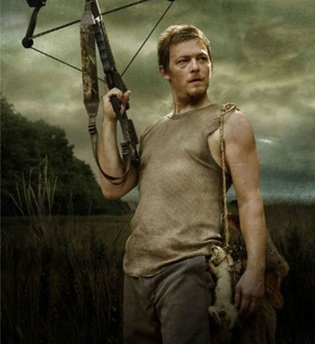 Daryl Dixon with his signature cross bow.