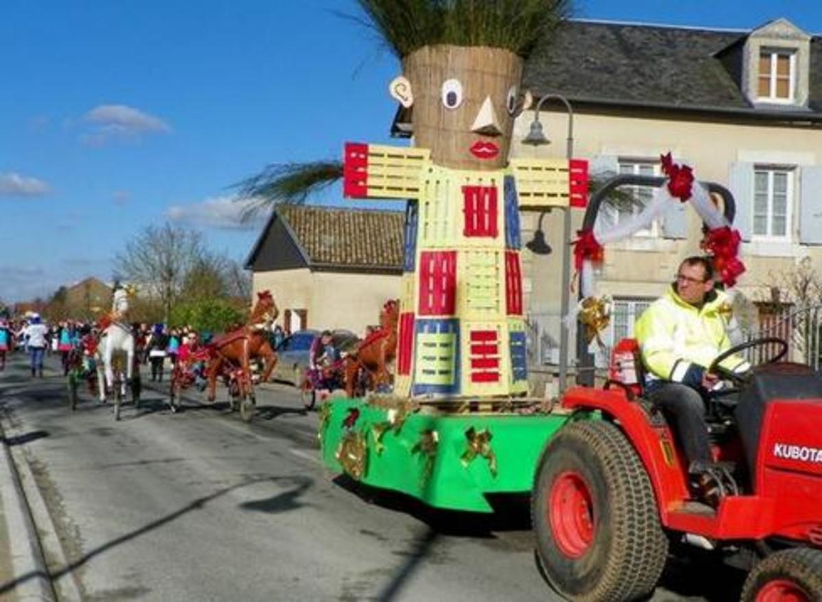 Bonhomme Carnaval in Genet, France
