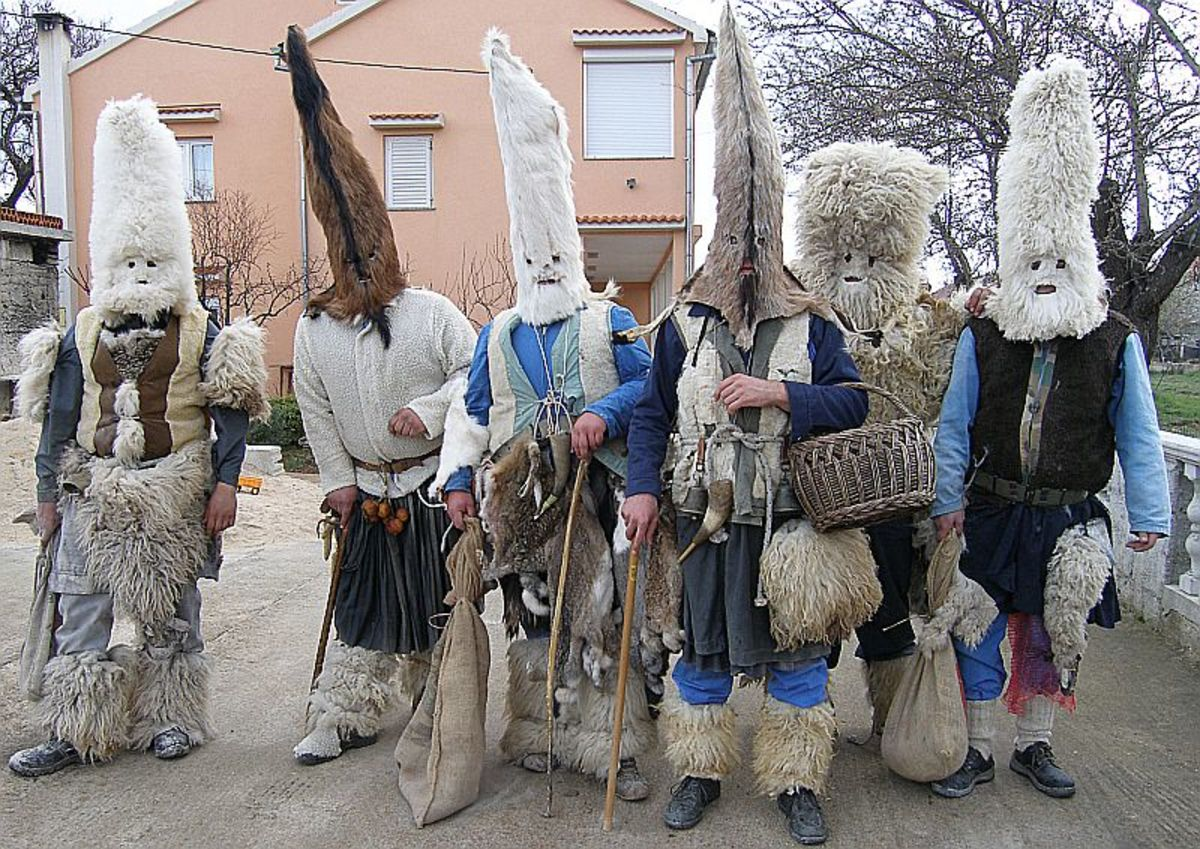 Zvončari wearing their costumes