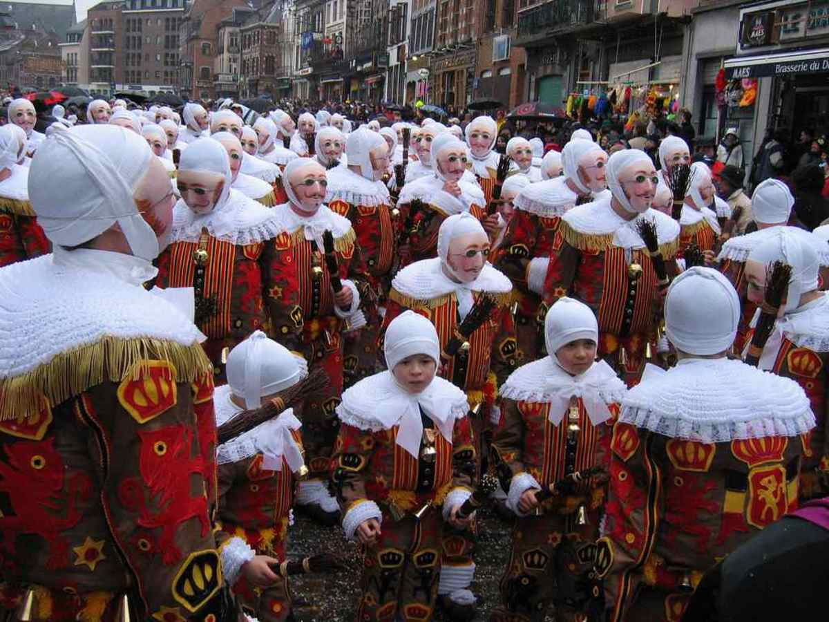 The Gilles of Binche Mardi Gras Carnival