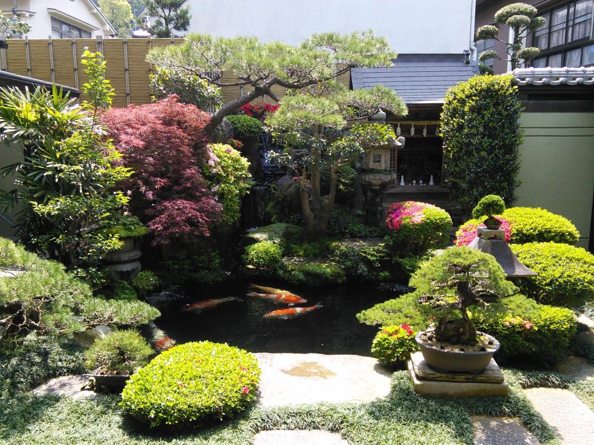 A small Japanese garden on Miyajima Island