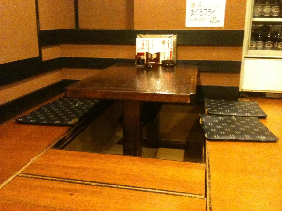 Seating at an izakaya