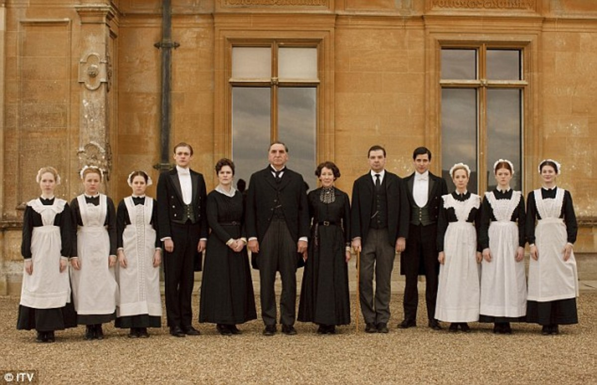 The servants of Downton Abbey