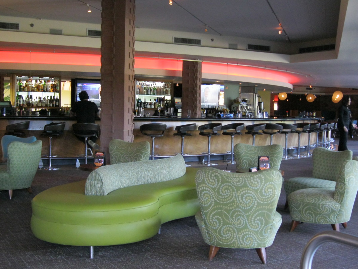 The lounge is located just a few steps from both Zu Zu restaurant and the lobby.