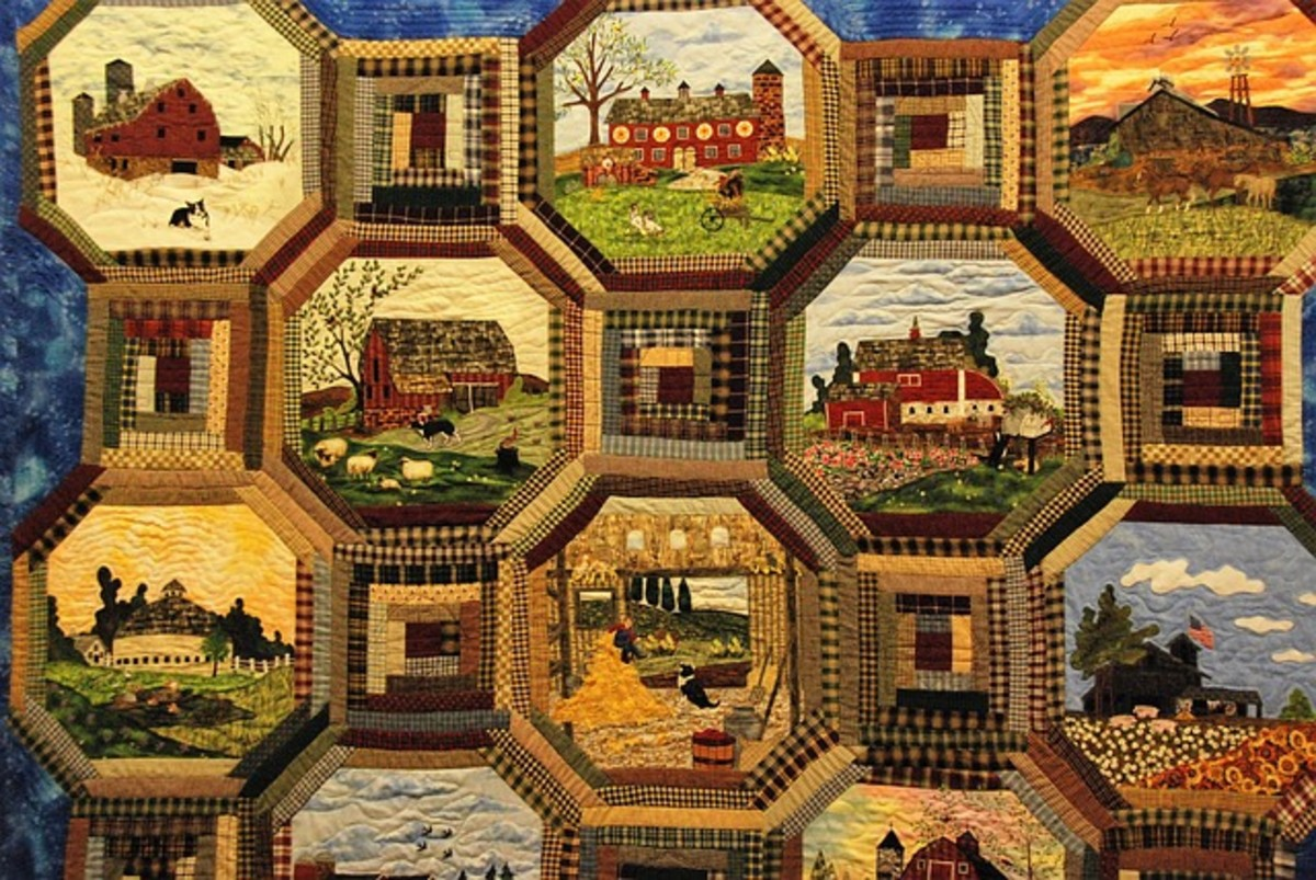 Framed memories are composed into this quilt creation.
