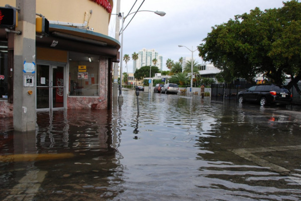'Sunny day' flooding in Miami Beach.