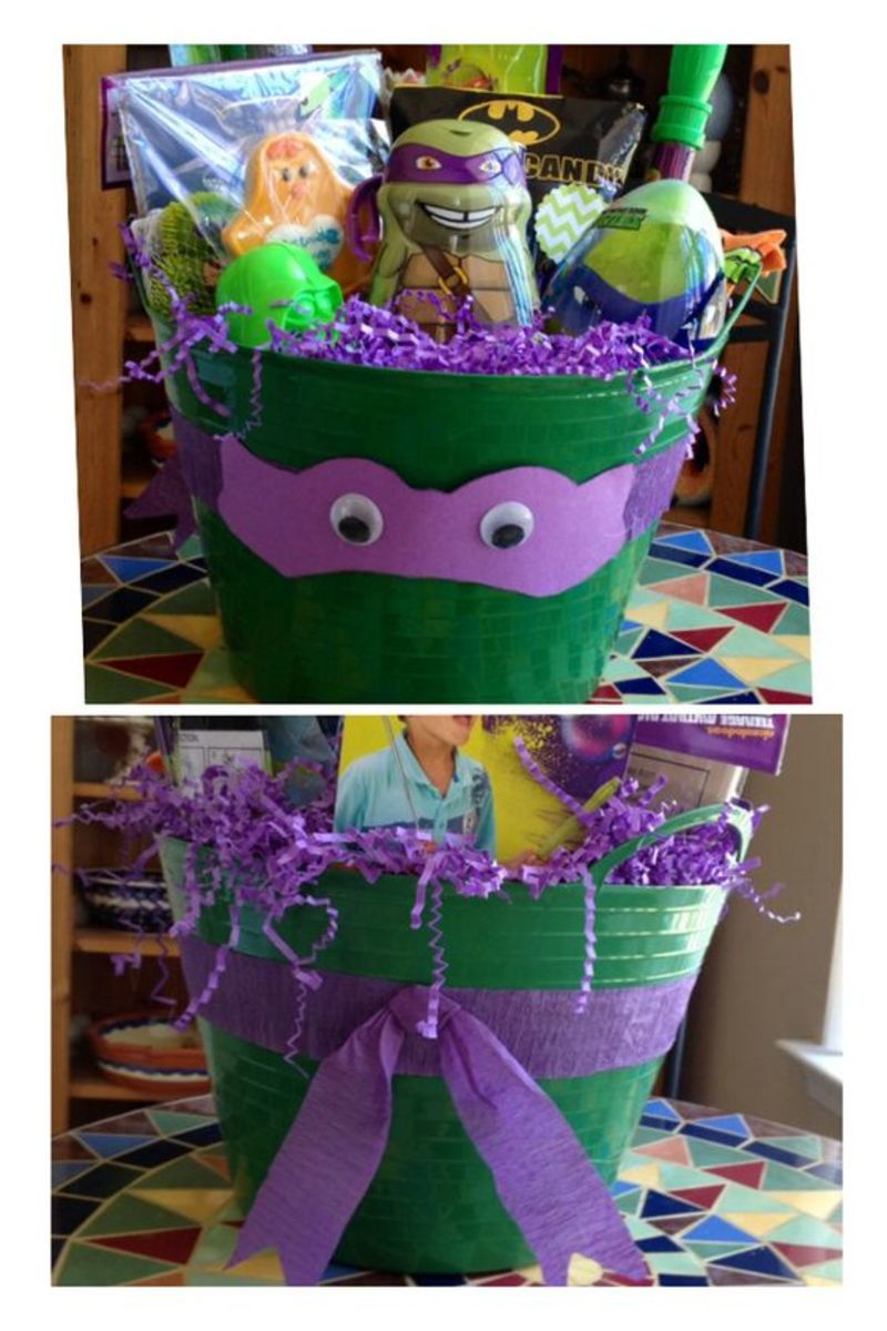Teenage Mutant Ninja Turtle | Easy DIY Easter Basket Ideas for Kids